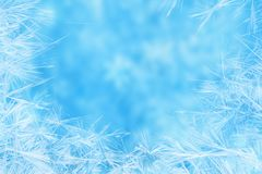 Christmas real crystal snowflakes snow like background, winter h Royalty Free Stock Photos