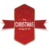Christmas realistic big red and gold Banner Royalty Free Stock Photo