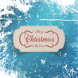 Christmas realistic greeting cardboard Label Royalty Free Stock Photos