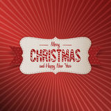 Christmas realistic paper white Banner with Ribbon Royalty Free Stock Photos