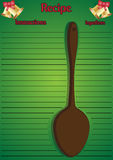 Christmas Recipe Page Big Spoon Stock Image