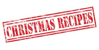 Christmas recipes red stamp. Christmas recipes red  stamp Royalty Free Stock Photo