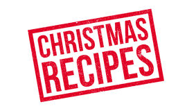 Christmas Recipes rubber stamp Royalty Free Stock Image