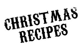 Christmas Recipes rubber stamp Stock Image