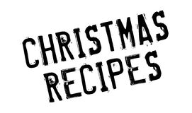 Christmas Recipes rubber stamp Stock Photo