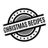 Christmas Recipes rubber stamp Royalty Free Stock Photography