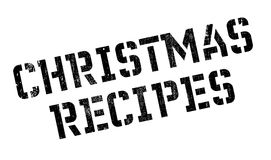 Christmas Recipes rubber stamp Royalty Free Stock Images