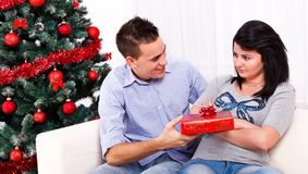 Christmas reconciliation Royalty Free Stock Photo
