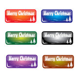 Christmas rectangle button Stock Photography