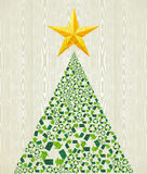 Christmas recycle pine tree Royalty Free Stock Photo