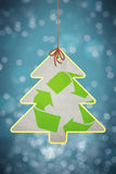 Christmas recycling sign Stock Images