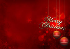 Christmas red. Merry Christmas snow background Stock Photo