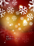 Christmas red abstract background with white Stock Image