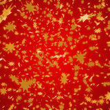 Christmas red Background. Red background with christmas stars Royalty Free Stock Image