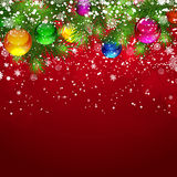 Christmas red background. Royalty Free Stock Image