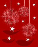 Christmas red background Stock Image
