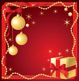Christmas red background. vector illustration