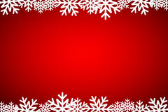 Christmas red background lined snowflakes Royalty Free Stock Photography