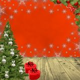 Christmas red background royalty free stock photos