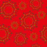 Christmas Red Background Pattern Stock Photo