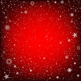 Christmas red background with snow Royalty Free Stock Photo