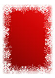 Christmas red background with snowflakes. Festive Christmas red background with snowflakes Royalty Free Stock Images