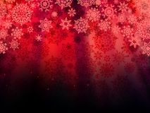 Christmas red background with snowflakes. EPS 10 Stock Photo