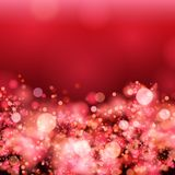 Christmas Red background with snowflakes Royalty Free Stock Photography