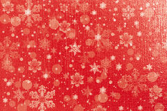 Christmas red background with snowflakes Royalty Free Stock Images