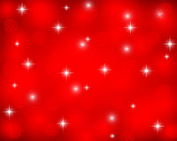 Christmas red background with snowflakes, vector Royalty Free Stock Images