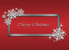 Christmas red background . Stock Photography