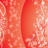 Christmas red background, vector illustration Stock Photo