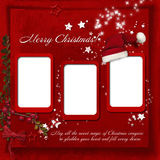 Christmas red background with warm wishes Royalty Free Stock Photography
