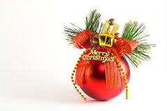 Christmas red ball Stock Images