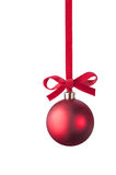 Christmas red ball Royalty Free Stock Photo