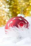 Christmas red  ball Stock Photography