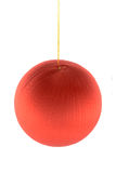 Christmas red ball. Isolated on white background Royalty Free Stock Images
