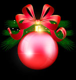 Christmas red ball Royalty Free Stock Photo