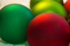Christmas red ball Christmas tree closeup Stock Image