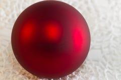 Christmas red ball Christmas tree closeup Royalty Free Stock Images