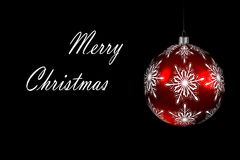 Christmas red ball and Sign Stock Images