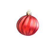 Christmas red ball isolated on white with clipping path Royalty Free Stock Photography