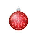 Christmas Red Ball with Snowflake  Stock Image