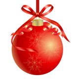 Christmas red ball vector background. Design illustration Royalty Free Stock Image