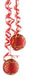 Christmas red balls Royalty Free Stock Photos