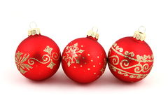 Christmas red  balls. Royalty Free Stock Image
