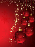 Christmas red balls Stock Photos