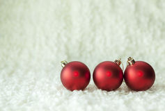 Christmas red balls Royalty Free Stock Image