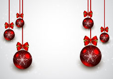 Christmas red balls background Stock Photography