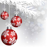 Christmas red balls decoration Stock Images